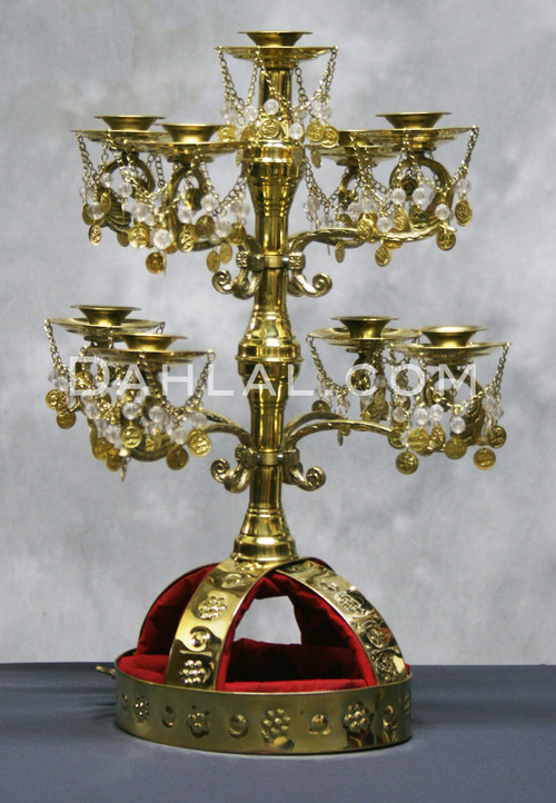 Gold Coin and Bead Candelabra