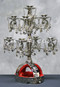 Silver Coin and Bead Candelabra