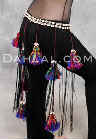Tribal Tassel and Cowry Belt, for Belly Dance