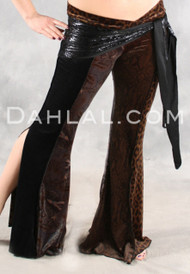 NASREEN Pant in Midnight Jungle Combination from Off The Nile