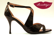 DOUBLED Black Patent Tango Shoe in Size 37, from LUNATANGO