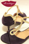 GOTA Violet Suede & Platinum Fantasy Low Heeled Tango Shoe in size 37, from LUNATANGO