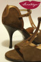 GOTA Chocolate Suede & Bronze Snake Tango Shoe in size 36, from LUNATANGO