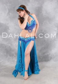 HARMONIOUS GREAT LOOP Ensemble by Pharaonics of Egypt, Egyptian Belly Dance Costume, Available for Custom Order