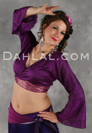Silk Sari Wrap Blouse for Belly Dance