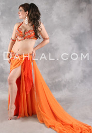 TWIST OF FATE by Designer Eman Zaki, Egyptian Belly Dance Costume Available for Custom Order