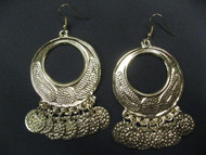 Coin Earrings - Style 16, Gold or Silver