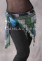 Dark Teal Floral Print with Silver