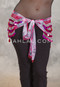 Front View of Deep V Beaded Paillette Hip Scarf