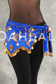 FLORAL WAVE WRAP IN LYCRA for Belly Dance