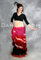 Fuchsia and Wine Multi-Tier Skirt