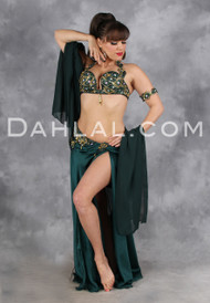 CAPTURED PERFECTION by Designer Eman Zaki, Egyptian Belly Dance Costume, Available for Custom Order