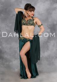 CAPTURED PERFECTION by Designer Eman Zaki, Egyptian Belly Dance Costume, Available for Custom Order