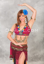 Double Drape Tribal Halter Top, for Belly Dance