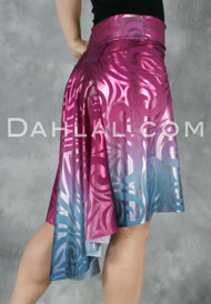 Ombre A-Line Skirt with Rounded Godet, by Dahlal USA, Tango Skirt