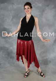 Handkerchief Hem Tango Skirt with Wide Waistband, by Dahlal USA