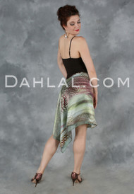 Charmeuse and Chiffon Double Layer Tango Skirt, by Dahlal USA