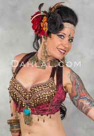 woman wearing underbust vest by off the nile