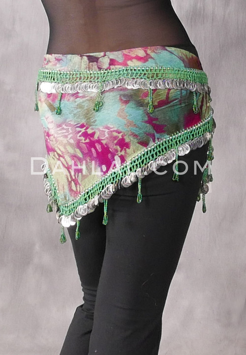 Graphic Print Green and Silver
