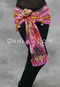 Front View of Pink Tie-Dyed Beaded Scarf