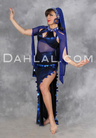 YA HABIBI SAIDI by Designer Eman Zaki, Egyptian Belly Dance Dress, Available for Custom Order