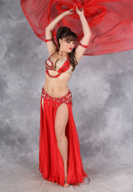 AFFAIR OF THE HEART by Designer Eman Zaki, Egyptian Belly Dance Costume, Available for Custom Order