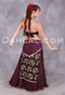Lace panel skirt for belly dance with ribbon ties.