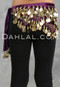 Purple and Gold Coin Hip Scarf