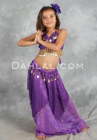 LOTUS BLOSSOM, Children's Belly Dance Costume