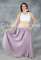 Lavender Double Layer Circle Skirt