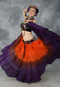 Orange, Chocolate and Purple Tribal Belly Dance Skirt