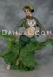 Green Jaipur Tribal Skirt for Belly Dance