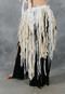 Ivory Retro Lace Fringe Tribal Belt