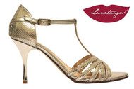 SIRUME Silver Viper with Metallic Silver Heel Tango Shoe in Size 37, from LUNATANGO