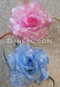 pink and blue hair flowers