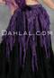 Purple Retro Lace Fringe Tribal Belt