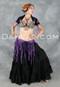 Purple Retro Lace Fringe Tribal Belt with 25 Yard Tribal Black Skirt