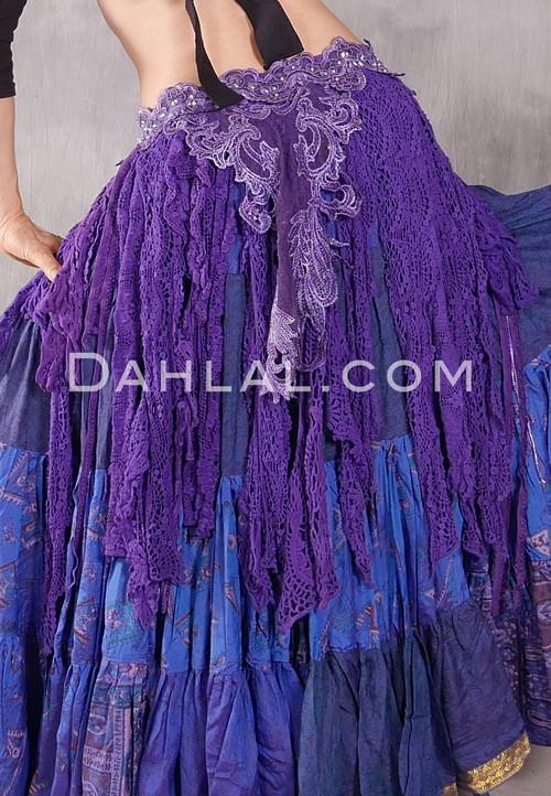 Purple Retro Lace Tribal Belt