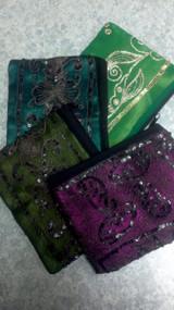 Medium Vintage Sari Pouch with Zipper