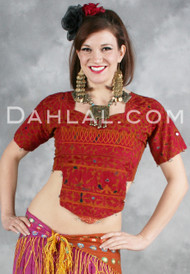 Choli Top with Vintage Embroidery