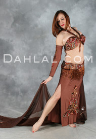 ENCHANTMENT in Chocolate by Pharaonics of Egypt Egyptian Belly Dance Costume