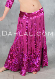 Holographic Velvet A-Line Skirt by Off The Nile