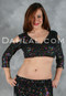 Black with Multi-color Sequin Stretch Top