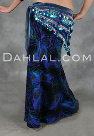 PEACOCK Lightweight Lycra Mermaid Skirt by Off The Nile