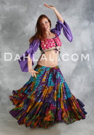 EXTRA FULL FOUR TIERED KALEIDOSCOPE SKIRT