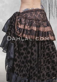 SATIN & LACE BUSTLE WRAP SKIRT