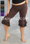 tribal belly dance capri leggings with ruffle