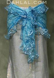 Turquoise Lace Ruffled Wrap