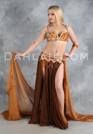 FLIRTY FLAIR II in Copper, Purple and Silver by Pharaonics of Egypt, Egyptian Belly Dance Costume