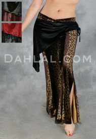 IN THE WILD CAIRO Velvet Pant With Hip Wrap by Off The Nile